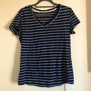 Abbot Main Linen Striped T-Shirt